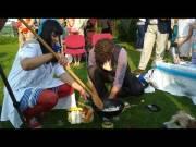 Vodácká svatba - Alenka a Marcel - příprava občerstvení pro Neptuna